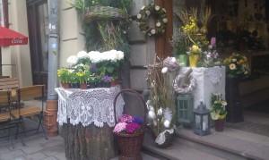Bilden är tagen i Krakows gamla stan påsken 2011